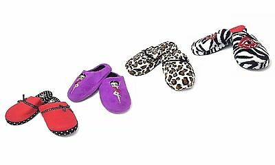 Betty Boop Slipper Ultra-Soft Women's Plush Pinup Cozy Non-Skid Slippers