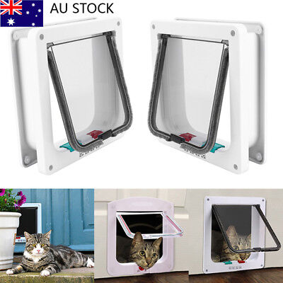 4 Way Small Medium large Pet Cat Dog Supply Lock Lockable Safe Flap Nest Door