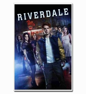 """Riverdale Full Cast 12""""x8"""" TV Shows Silk Poster Hot Door Wall Decals Cool Gift"""