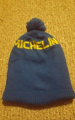 Vintage Michelin Man Advertising Branded Ski Hat Pom Pom