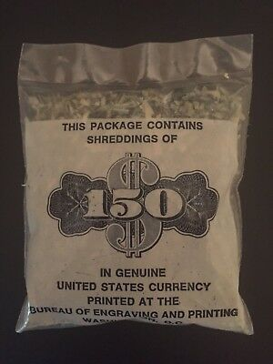Shredded U.S. Money $150 of shredded currency. Authentic Federal Reserve