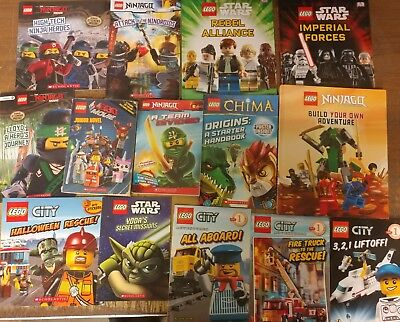 Lot of 28 Lego City Ninjago Friend Heroes Wars Picture Series Kid Books MIX #C14
