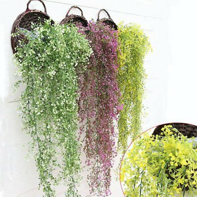 Fake Plant Flower Silk Wisteria Vine Artificial Tale Garden Wedding Decor New