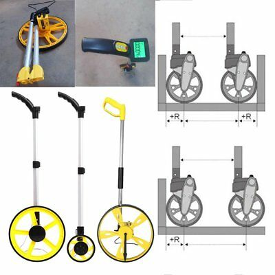 Distance Measuring Wheel Building Real Estate Walk Step Meter Tool Carry Bag h&