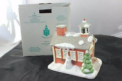 Partylite The Schoolhouse Tealight House Perfect Addition Christmas~Mint P0427