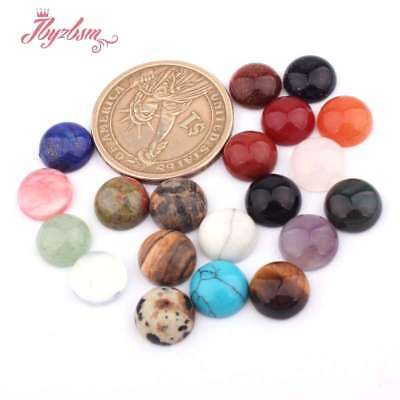 10mm Round CAB Cabochon Flatback Dome Undrilled Stone for Jewelry Making 10 Pcs