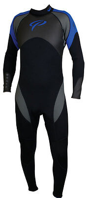 Mens Steel Steamer Wetsuit - 3mm - Scuba, Snorkeling, Surf, SUP, Water Sports