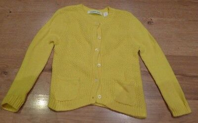 Girl's Yellow Country Road Wool/angora/cashmere Blend Cardigan Size 3