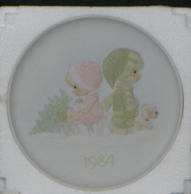 1984 Precious Moments Wonder Of Christmas 4th in the series NIB COA