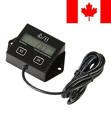 Searon Digital Tach Hour Meter Tachometer for 2/4 Stroke Small Engine Boat Ge...