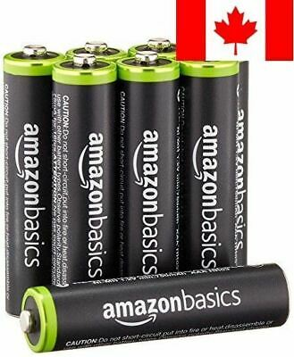 AmazonBasics AAA Rechargeable Batteries (8-Pack) Pre-charged - Packaging May ...