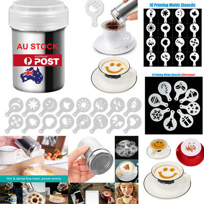 AU Pro. Stainless Steel Chocolate Shaker Cocoa Flour Powder Coffee Sifter Set