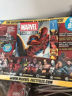 Eagle moss MARVEL FACT FILES SPECIAL EDITION FULL COLLECTION!!!!! MIB.