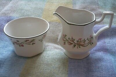 JOHNSON BROS. ETERNAL BEAU  MILK JUG & SUGAR BOWL set