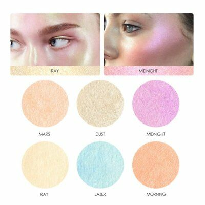 6 Color Cosmetic Makeup Powder Glitter Contour Kit Bronzer Highlighter Palette
