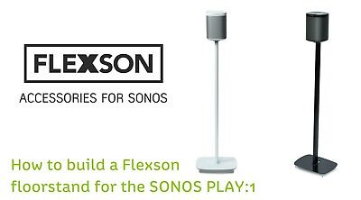 Sonos Play: FLEXSON FLOOR STAND 1 of PAIR IN Black ( White ALSO AVAILABLE )