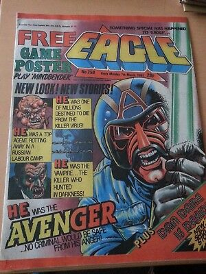 Eagle comic with free gift. March 1987