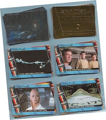 Complete Star Trek Movies: 6 Chase Sets 90 Cards - Logs, Profiles, Gold, Motion