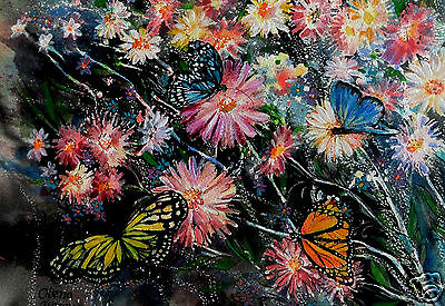 Post card,original artwork print,unique gift,watercolor, flowers,butterfly,new