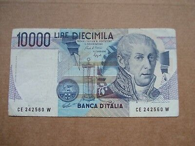 Italy 1984 10000 (10,000) Lire Banknote