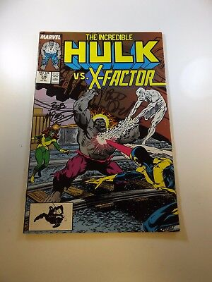 Incredible Hulk #336 signed by Peter David and Bob McLeod FN condition