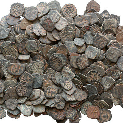 Top Quality Uncertain Byzantine Bronze Follis Coins , One Bid 100 Coins
