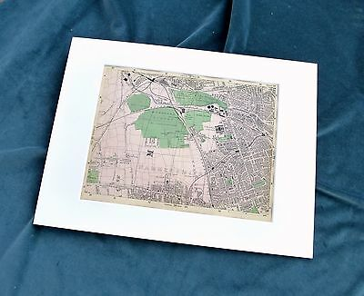 LONDON, 1900 - SHEPHERDS BUSH, EAST ACTON, N. KENSINGTON - Mounted Antique Map.