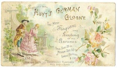 Hoyt's German Cologne Victorian Trade Card, Lowell MA