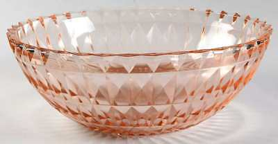 Jeannette Glass WINDSOR PINK Round Bowl 1784698