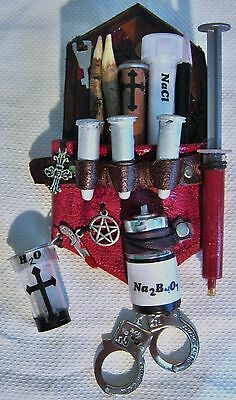 Hunter Slayer Supernatural Monster Steampunk Kit Embellishment Red Leather Borax
