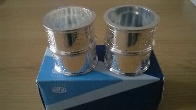 Boxed Set Of Four 4 Ianthe Silver Plated Napkin Rings