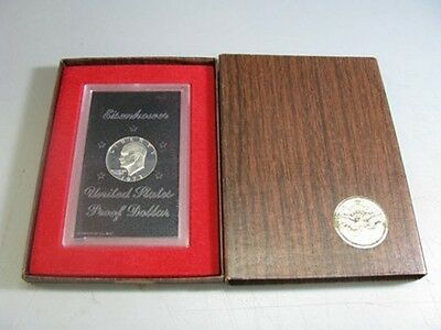 1973 S Proof Eisenhower Brown Ike 40% Silver $1 Dollar US Mint Coin