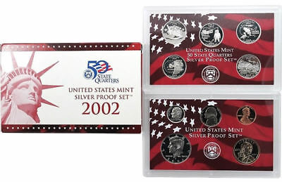 2002 S US Mint Silver Proof 10 Coin Set