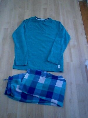 Next Boy's Green Checked Long Sleeve Pyjamas  Age 11 Years