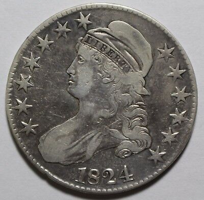 1824 Capped Bust Half Dollar C4