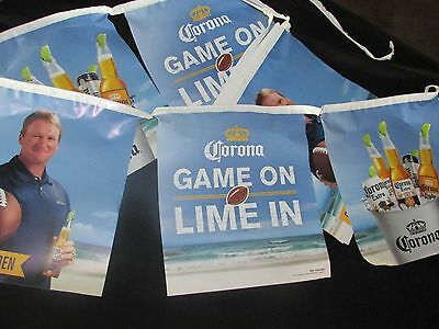 "NEW Corona Extra ""Game on & Lime on"" NFL Beer String Banner Fantasy Football T22"