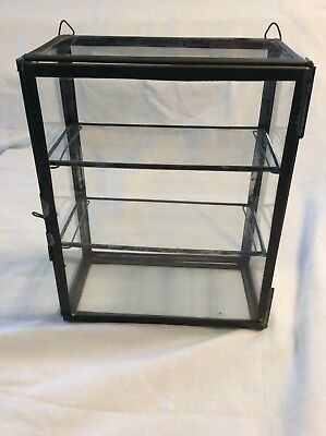 "Antique Vintage 10"" Small Candy Gum Showcase / Display Case"