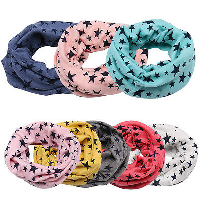 Child Kids Winter Warm Cotton Snood Scarf Shawl Boys Girls Neck Neckerchief New