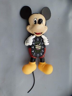 A Very Nice Mickey Mouse Motion Wall Clock. Eyes And Tail Move Side To Side