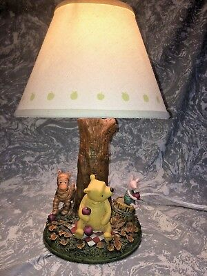 Classic Disney Winnie The Pooh Lamp w/ Tigger & Rabbit Great Detail  NO RESERVE