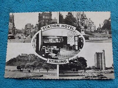 STIRLING CASTLE-MURRAY PLACE-STATION HOTEL BURNS STATUE ETC-Multiview RP c1950