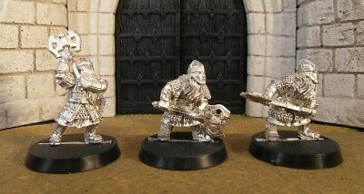 DWARF KHAZAD GUARDS - Lord Of The Rings 3 Metal Figure(s)