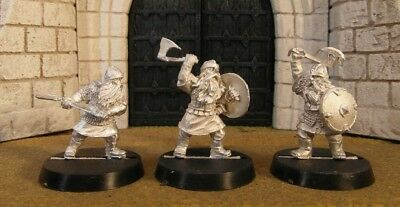 DWARF WARRIORS - Lord Of The Rings 3 Metal Figure(s)