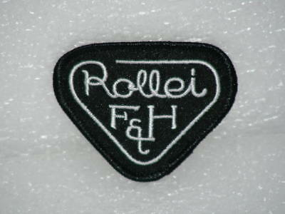 Rollei Camera Logo Patchs Two 2X Embroidered Vintage Cap Hat Coat Shirt