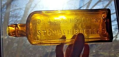 1860's Beautiful Dr. J. HOSTETTER'S STOMACH BITTERS YELLOW HONEY YELLOW L & W