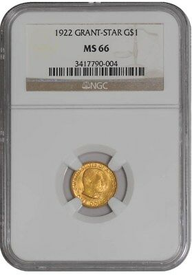 1922 $ Gold Grant Dollar Star MS66 NGC
