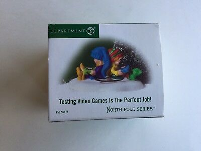 """Dept 56 North Pole Series """"Testing Video Games is the Perfect Job""""  #5656875 NEW"""