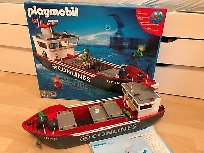 Playmobil 4472 - Großes Containerfrachtschiff in OVP, TOP Zustand
