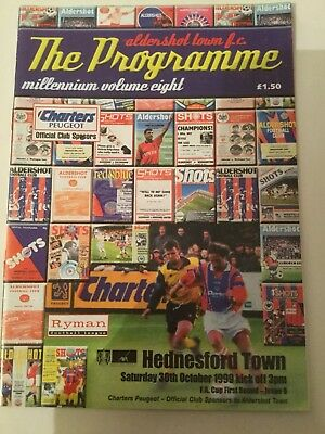 Football Programme Aldershot Town v Hednesford Town FA Cup 1st round 1999