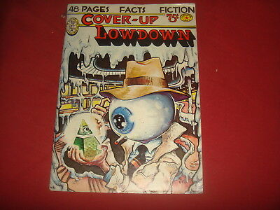 COVER-UP LOWDOWN #1 Mavrides Kinney Digest Size Conspiracy Underground 1977